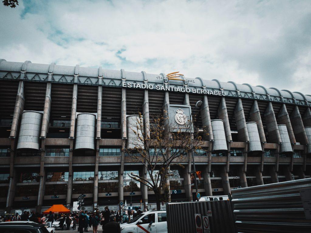 Stadion Santiago Bernabeu kandang Real Madrid Liga Spanyol Potret Foto